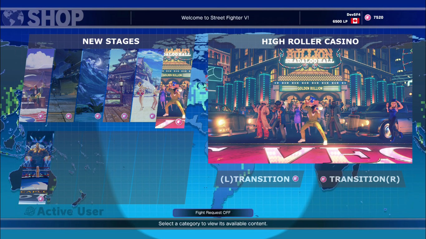 Redesigned Street Fighter 5 in-game shop 3 out of 4 image gallery