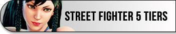 Street Fighter 5 tiers