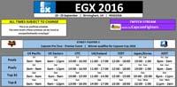 EGX 2016 Schedule image #1