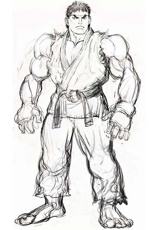 Street Fighter 4 Concept Sketches Of C Viper Ryu M Bison Vega