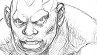 Street Fighter 4 concept sketches of Chun-Li, Ken, Balrog, Rufus, Sagat image #3