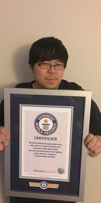 Justin Wong Guinness World Records 1 out of 2 image gallery