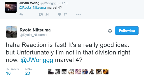 Ryota Niitsuma's tweets about Marvel vs. Capcom 4 2 out of 2 image gallery