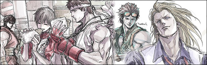 King Of Fighters Characters Street Fighters Old And New And Even Some Love For Tekken Yoshihara S Sketch Art Is Back By Popular Demand