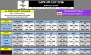 Capcom Cup Schedule  out of 1 image gallery
