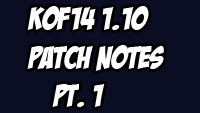 King of Fighters 14 1.10 patch notes image #1