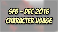 Character popularity and match rankings for Street Fighter 5 image #1