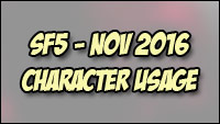 Character popularity and match rankings for Street Fighter 5 image #3