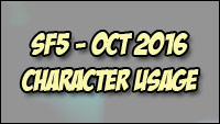 Character popularity and match rankings for Street Fighter 5 image #5