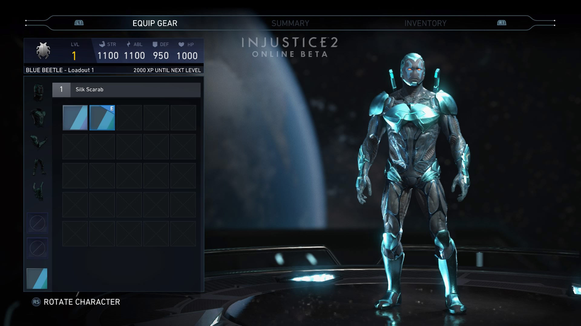 Blue Beetle in the Injustice 2 beta 1 out of 6 image gallery