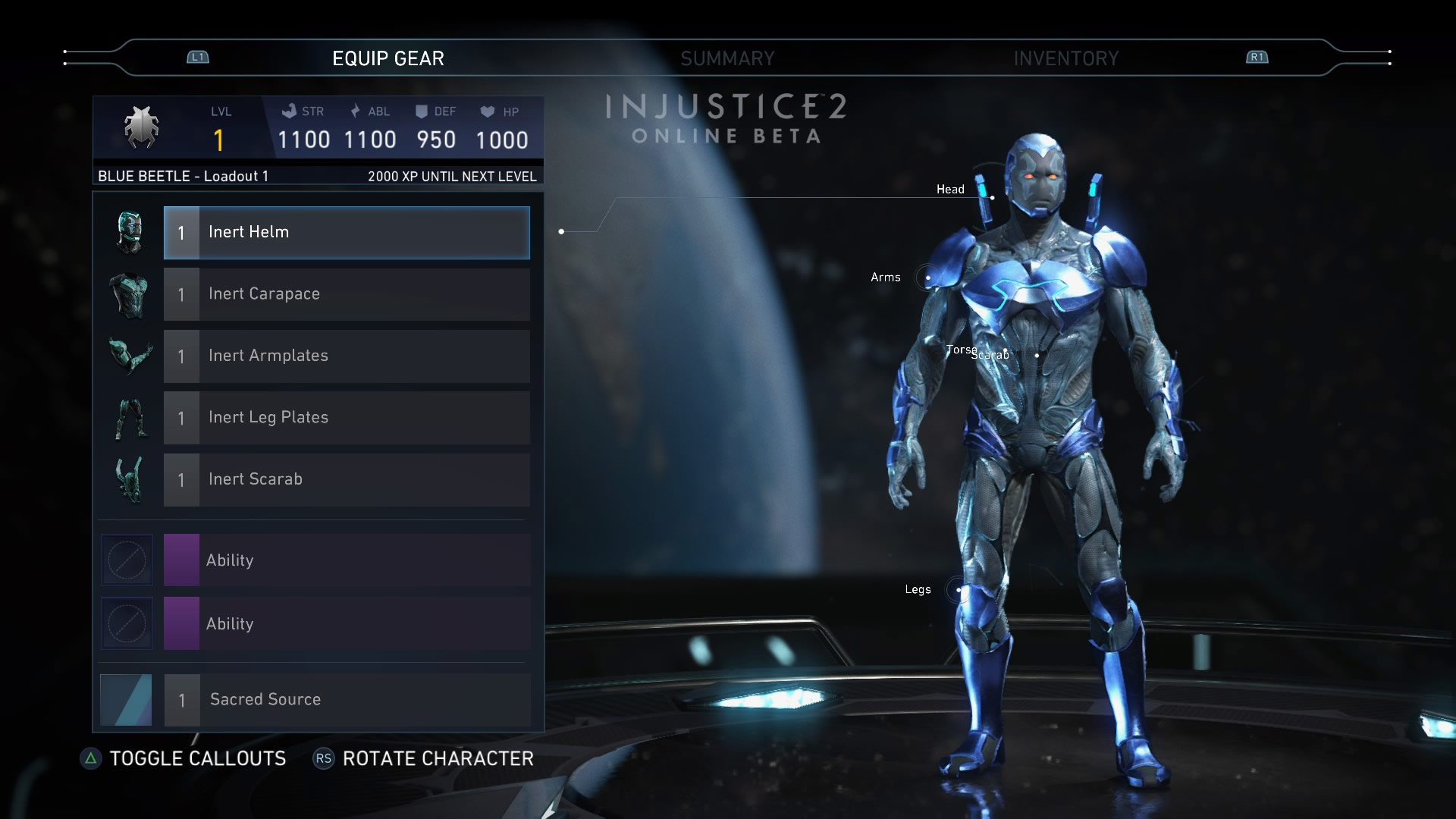 Blue Beetle in the Injustice 2 beta 2 out of 6 image gallery
