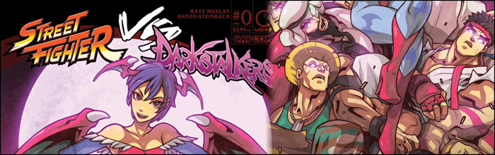 street fighter vs darkstalkers comic