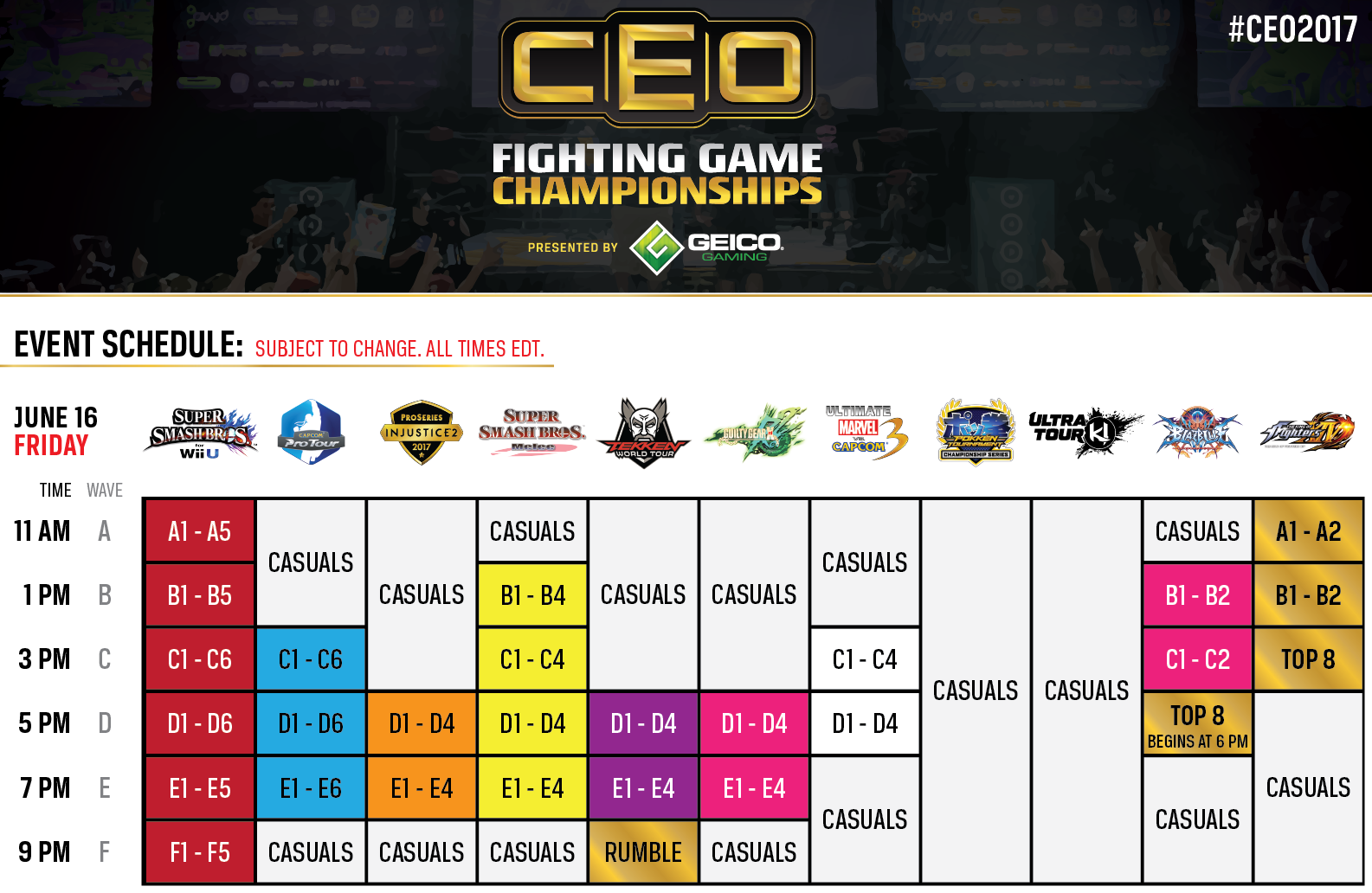 CEO 2017 schedule 1 out of 3 image gallery