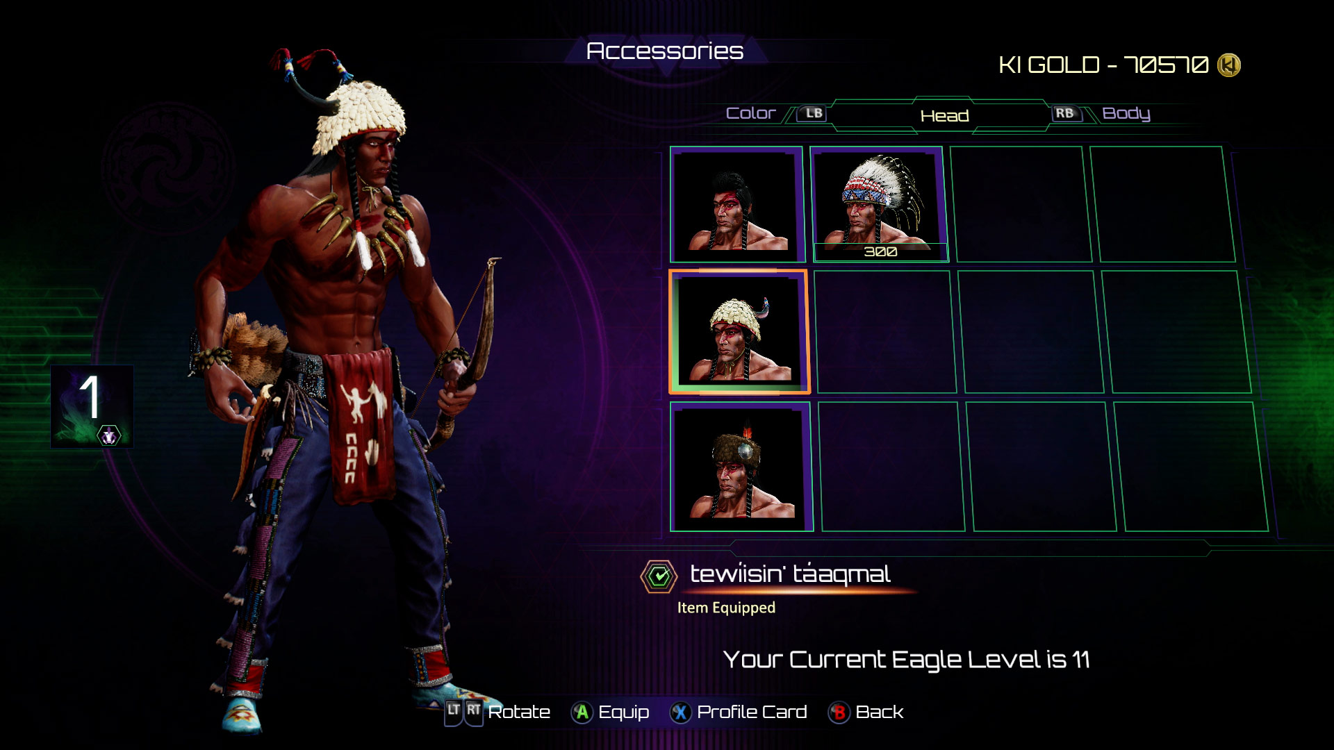 Eagle's accessories in Killer Instinct 6 out of 8 image gallery