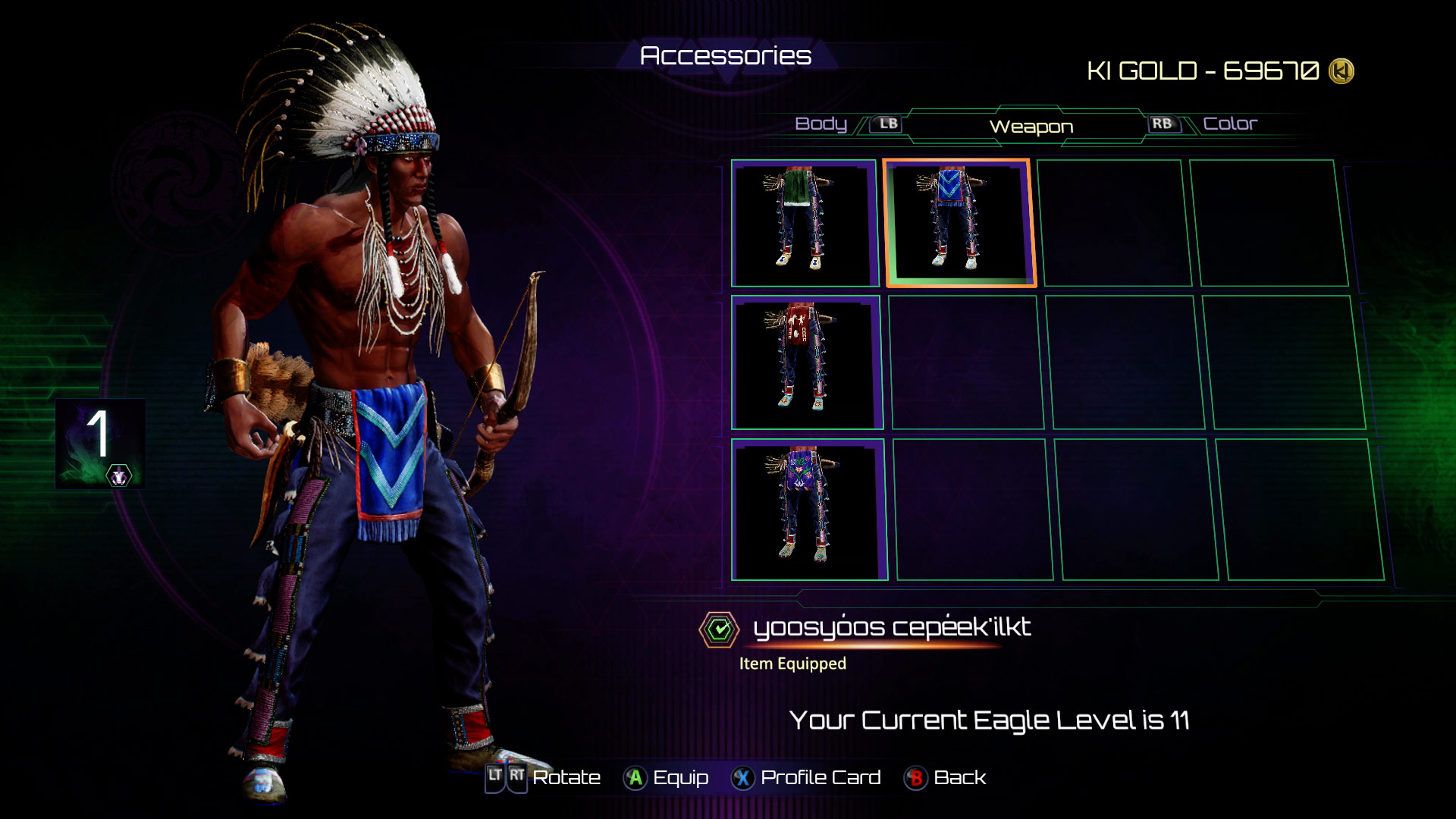 Eagle's accessories in Killer Instinct 8 out of 8 image gallery