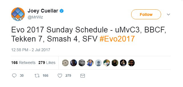 EVO 2017's Sunday schedule 1 out of 1 image gallery