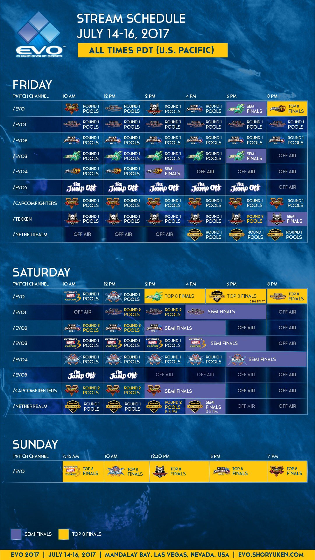 EVO stream schedules, main / AnimEVO 1 out of 3 image gallery