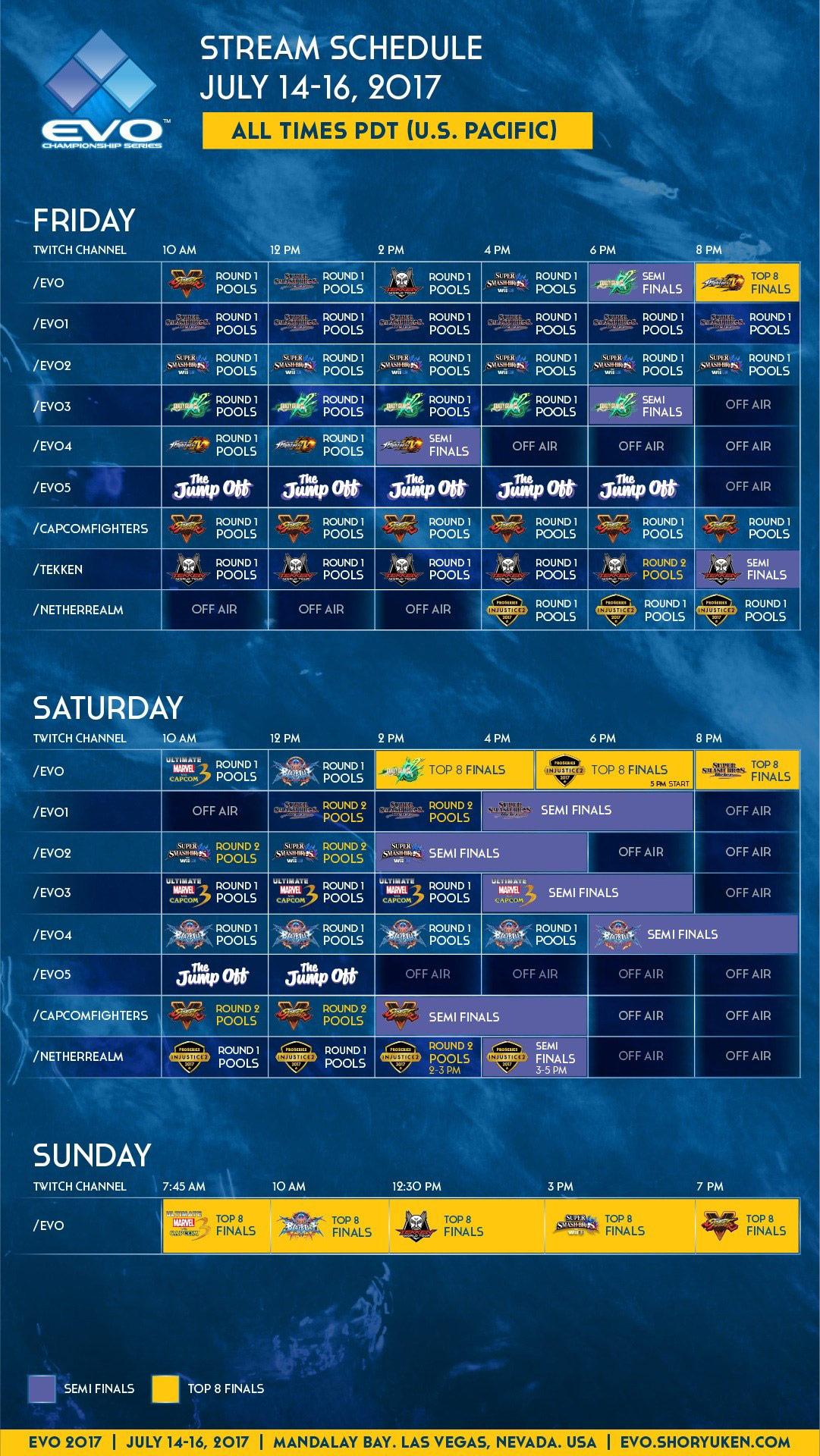 EVO stream schedules, main / AnimEVO 1 out of 3 image gallery