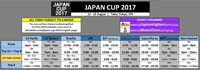 Japan Cup 2017 Schedule image #1