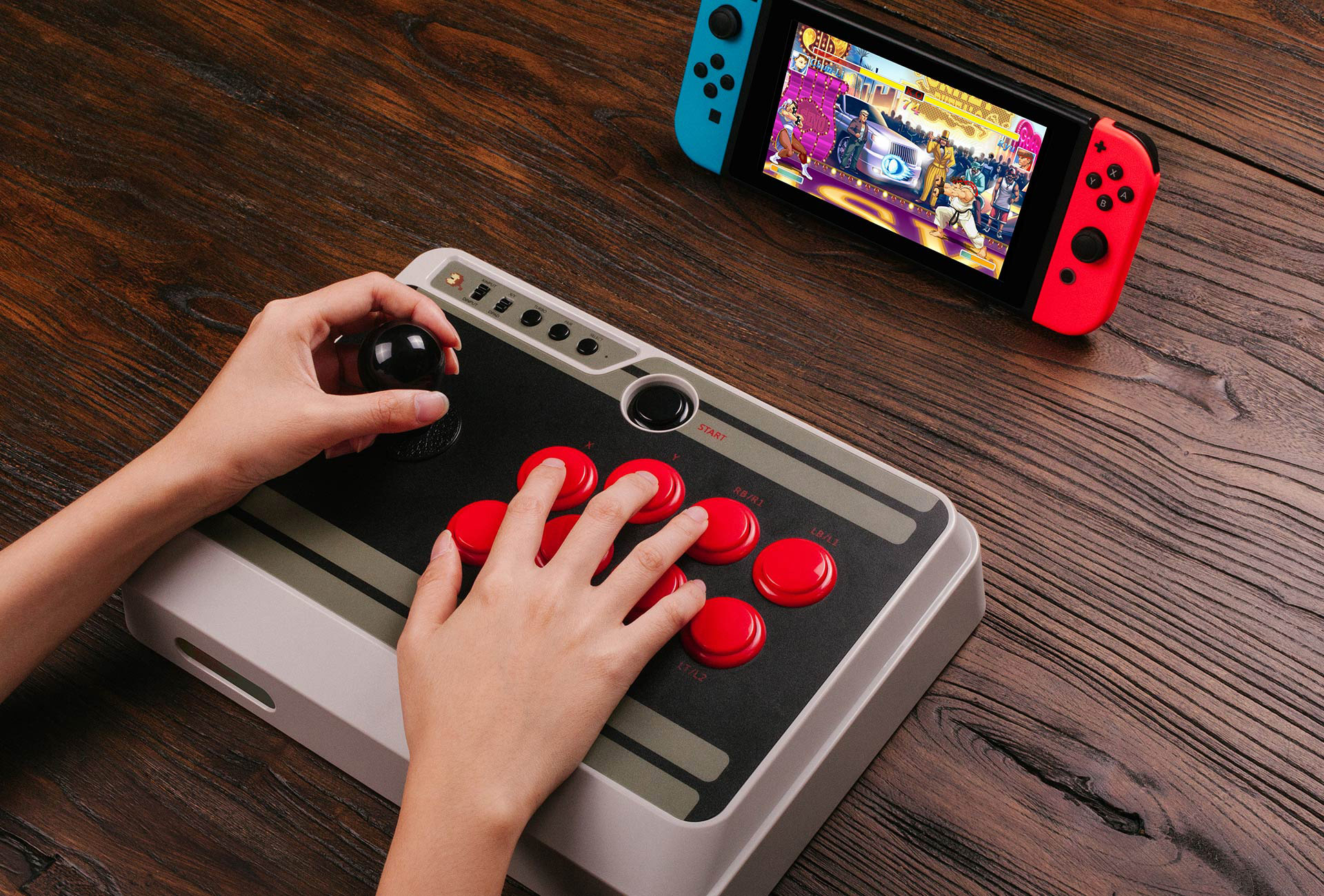 8Bitdo NES30 Arcade Stick 1 out of 11 image gallery