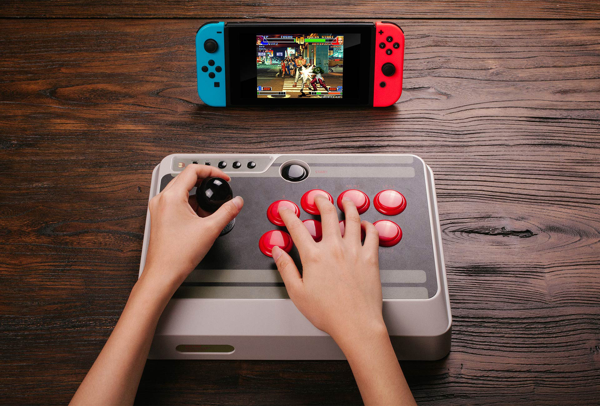 8Bitdo NES30 Arcade Stick 2 out of 11 image gallery