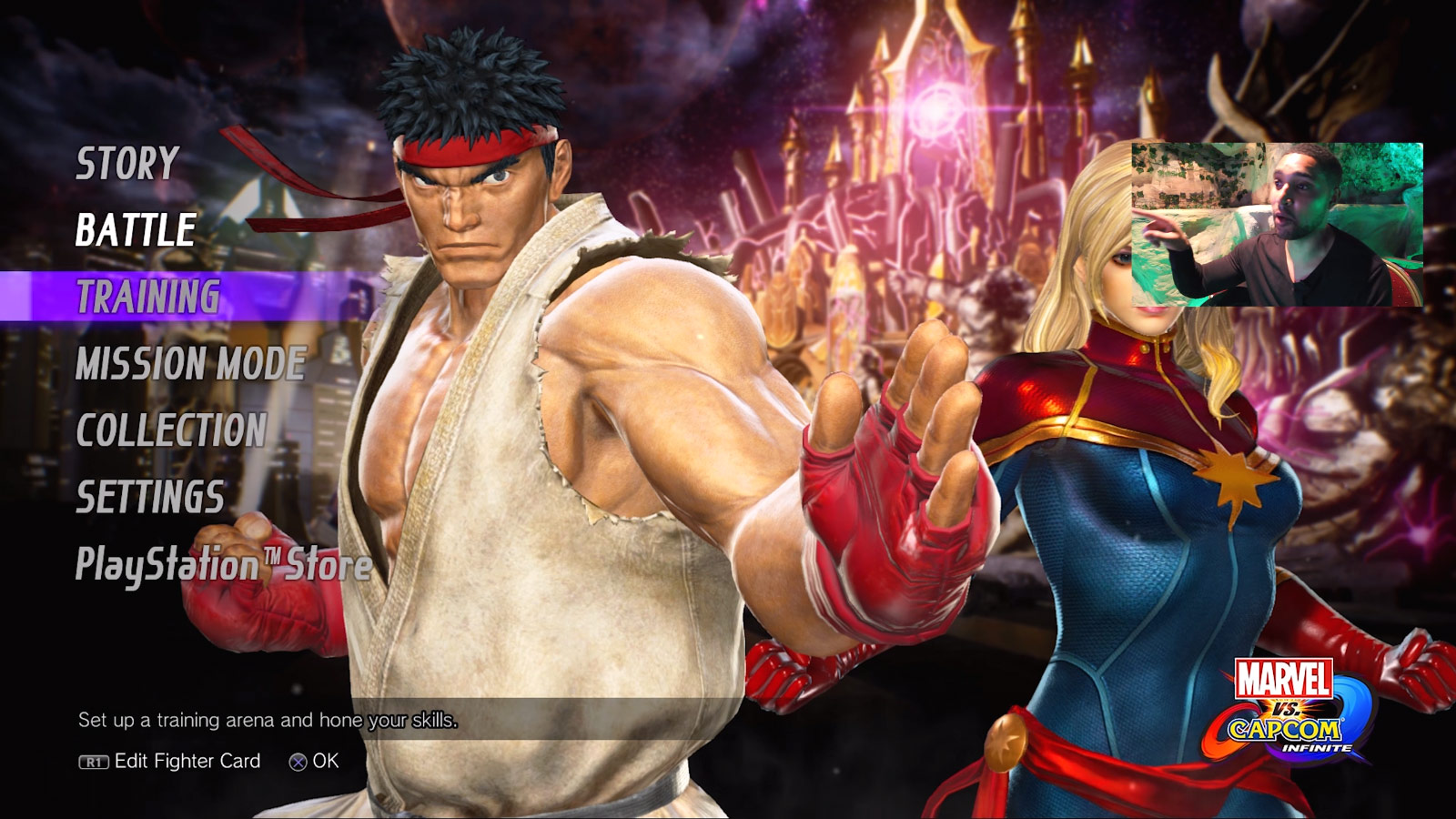 Marvel vs. Capcom: Infinite character select screen and menus 1 out of 6 image gallery