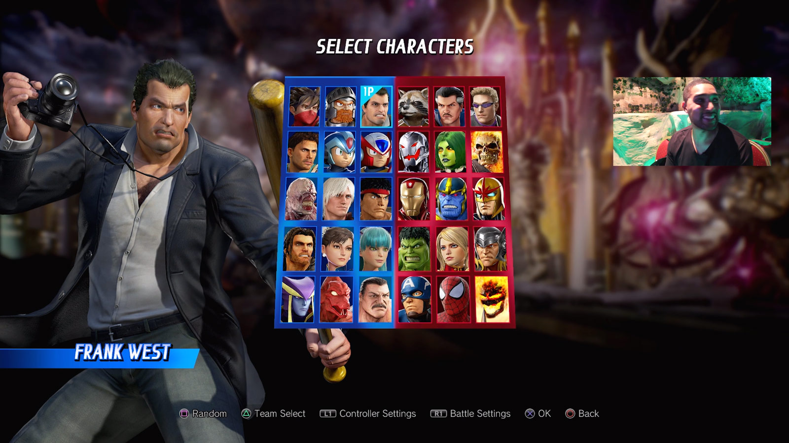 Marvel vs. Capcom: Infinite character select screen and menus 3 out of 6 image gallery