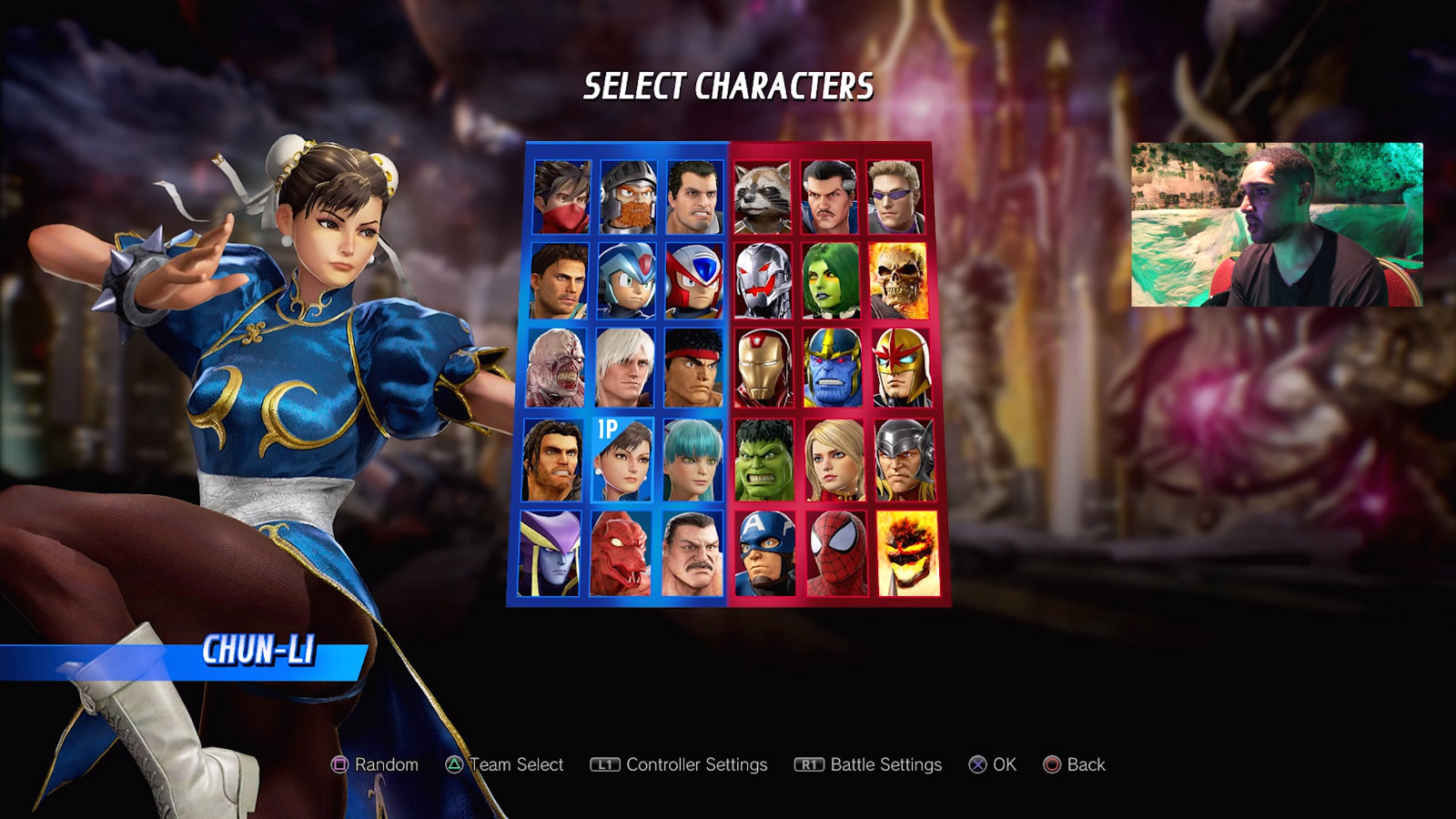 Marvel vs. Capcom: Infinite character select screen and menus 4 out of 6 image gallery
