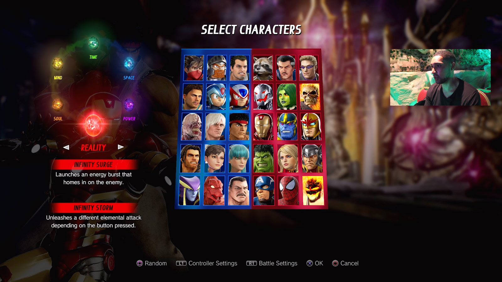 Marvel vs. Capcom: Infinite character select screen and menus 5 out of 6 image gallery