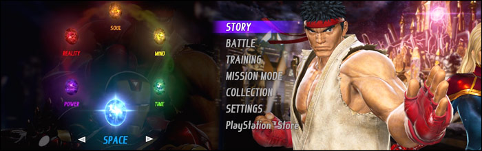 Marvel vs  Capcom: Infinite's character select screen