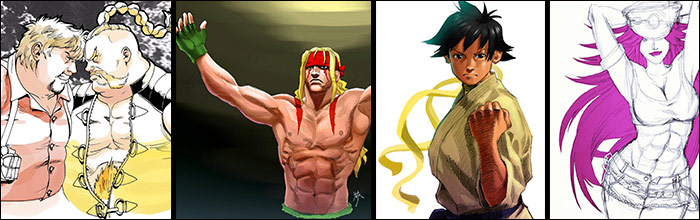 French animator draws fighting game characters and remixes