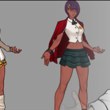 Capcom releases concept art for Street Fighter 5's latest school-themed costumes