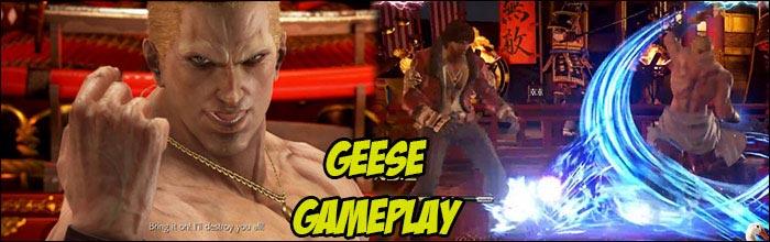 Early Gameplay Of Geese Howard In Tekken 7