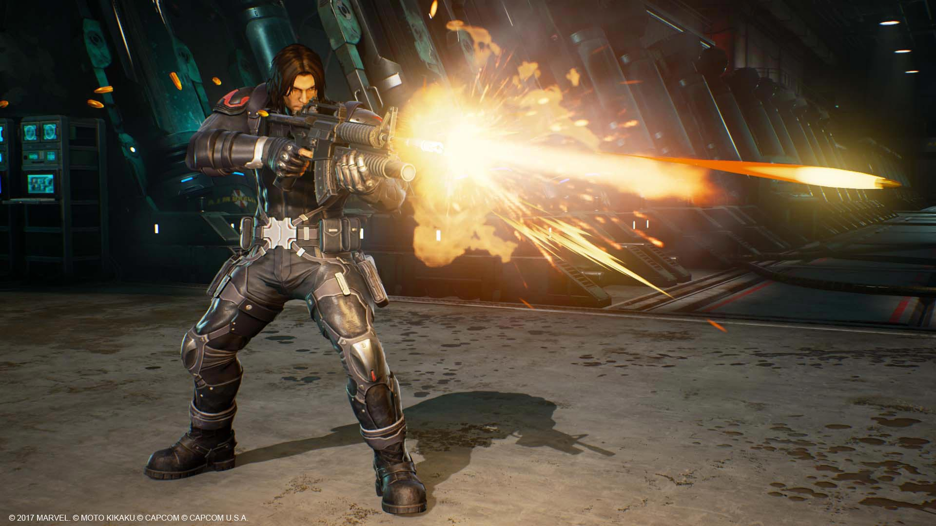 Venom, Black Widow, and Winter Solider in Marvel vs. Capcom: Infinite screenshots 3 out of 13 image gallery