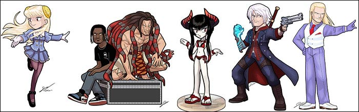 Sandika Rakhim Draws Toon Art Of Fighting Game Characters And Players