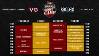 Smash 4 Boot Camp Event Schedule image #1