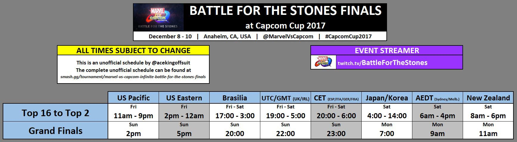 Capcom Cup Event Schedule 2 out of 2 image gallery