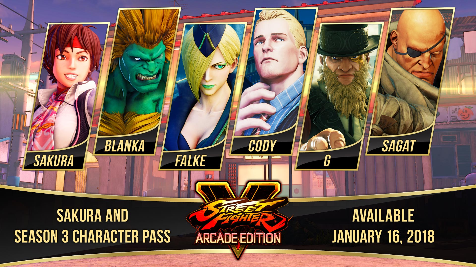Street Fighter 5 Arcade Edition Season 3 characters 11 out of 11 image gallery