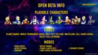 Dragon Ball FighterZ open beta information image #1