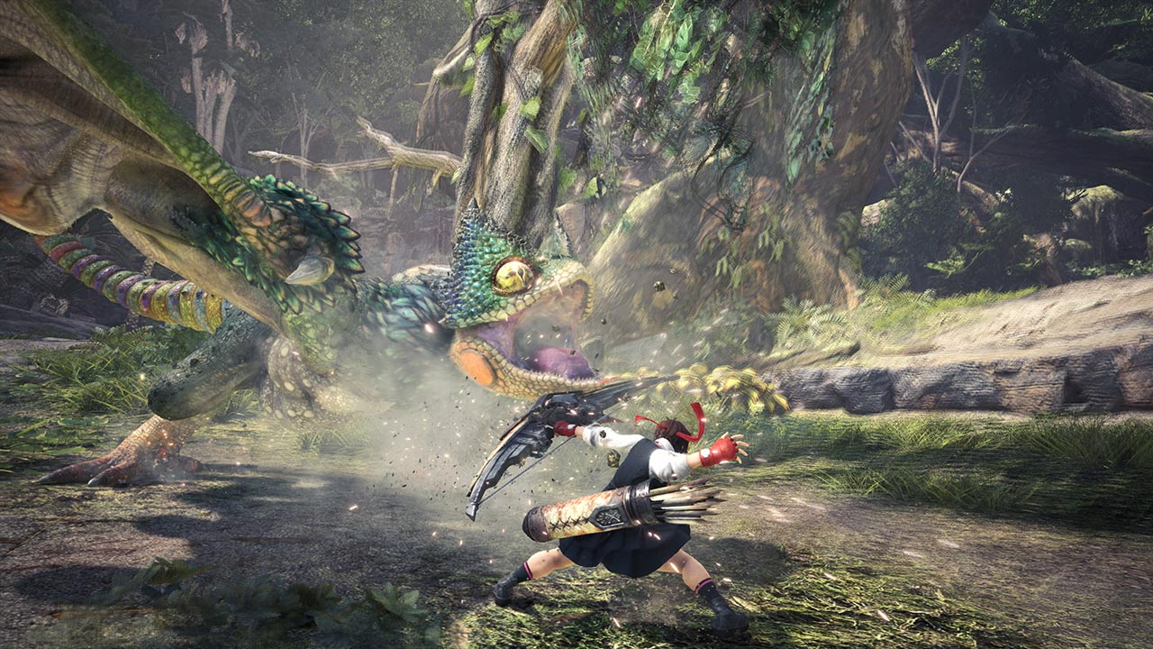 Street Fighter's Ryu and Sakura in Monster Hunter World 5 out of 5 image gallery