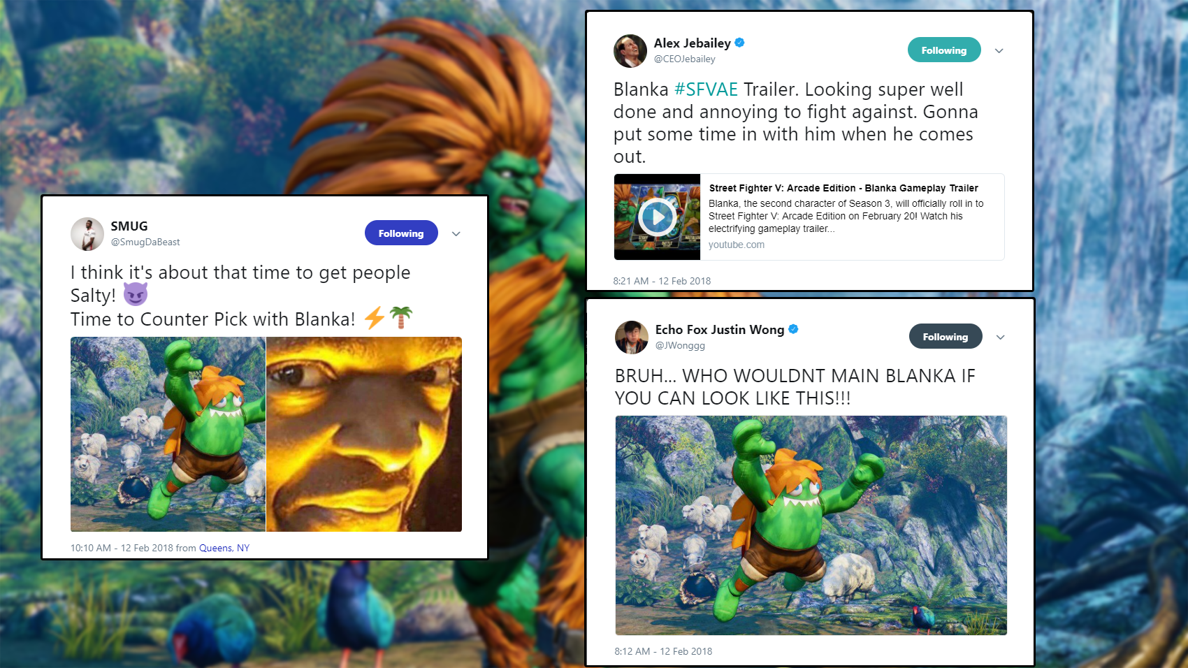 The fighting game community reacts to Blanka 1 out of 3 image gallery