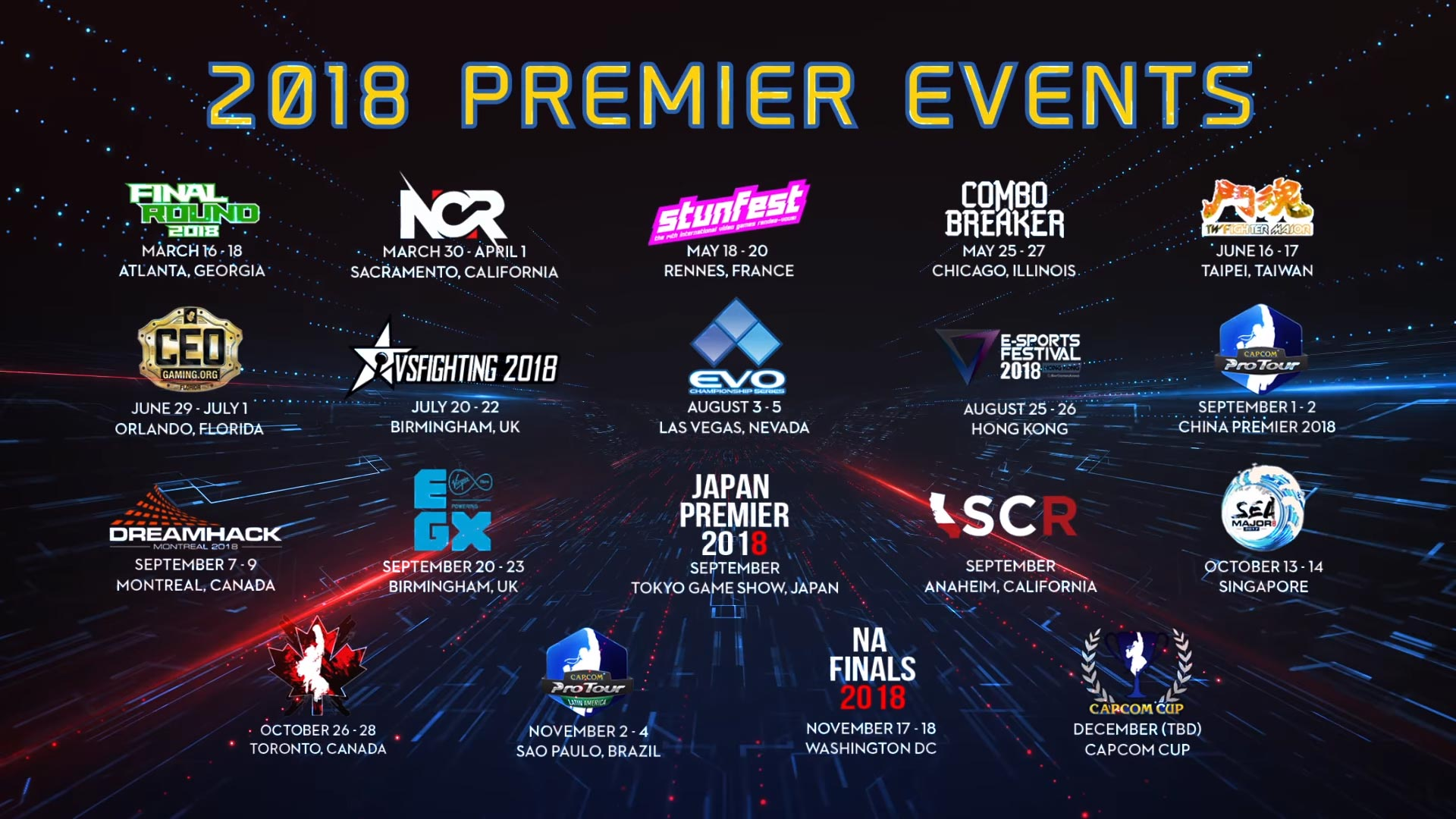 Capcom Pro Tour 2018 details 3 out of 3 image gallery
