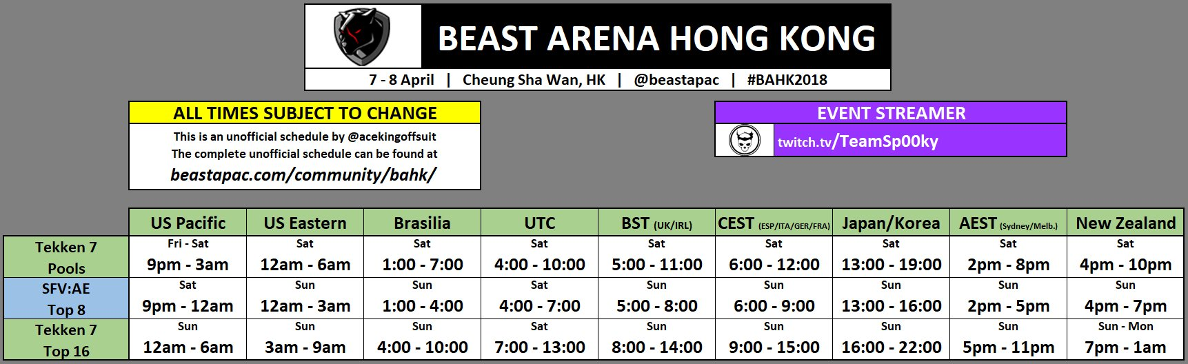 Beast Arena Hong Kong Event Schedule 1 out of 1 image gallery