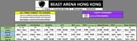 Beast Arena Hong Kong Event Schedule image #1