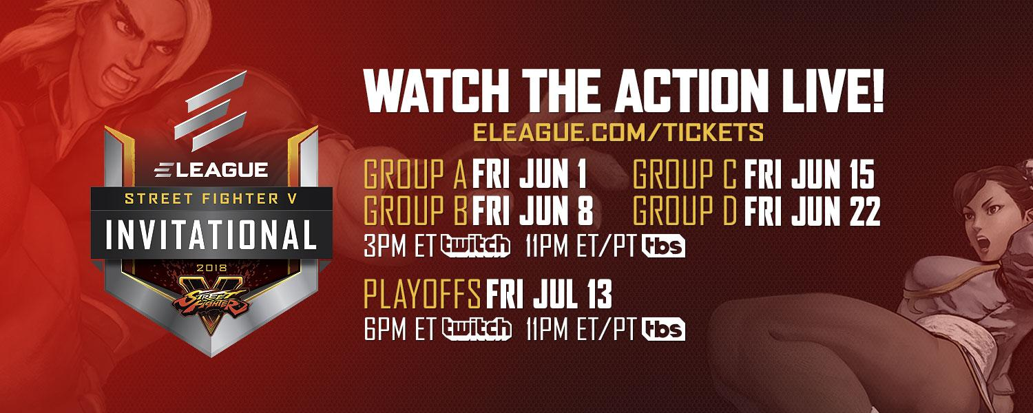 ELEAGUE Street Fighter 5 2018 Event Schedule 1 out of 1 image gallery