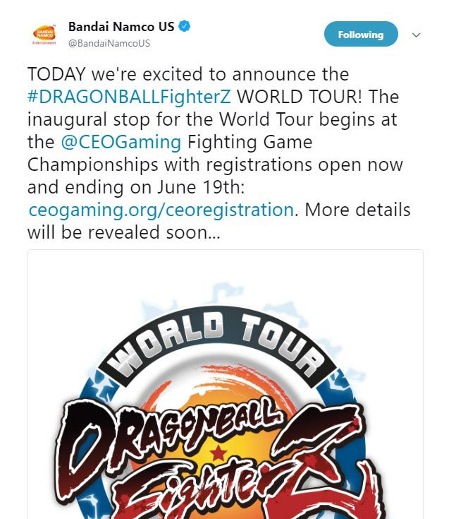 Dragon Ball FighterZ World Tour announced 2 out of 2 image gallery