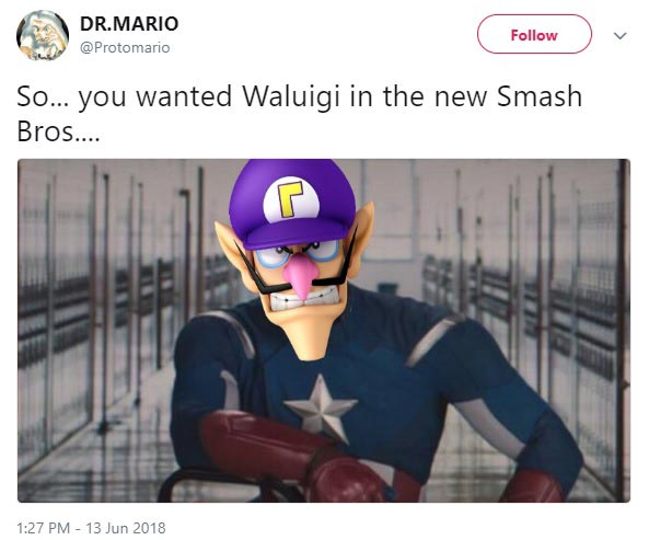 Waluigi Not In Super Smash Bros Ultimate Memes 11 Out Of 14 Image