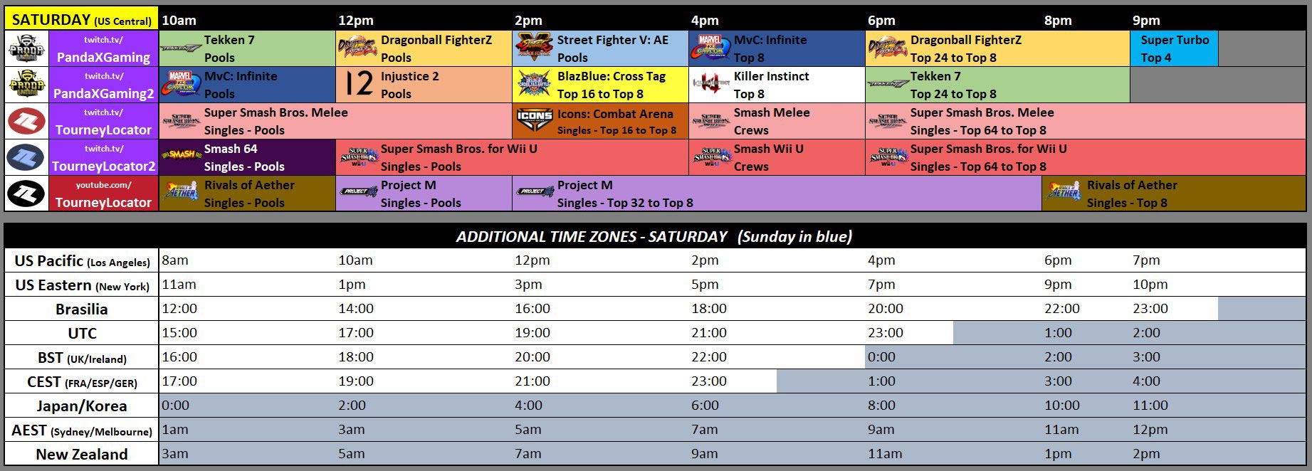 Kumite in Texas, Low Tier City 6 schedule 2 out of 3 image gallery