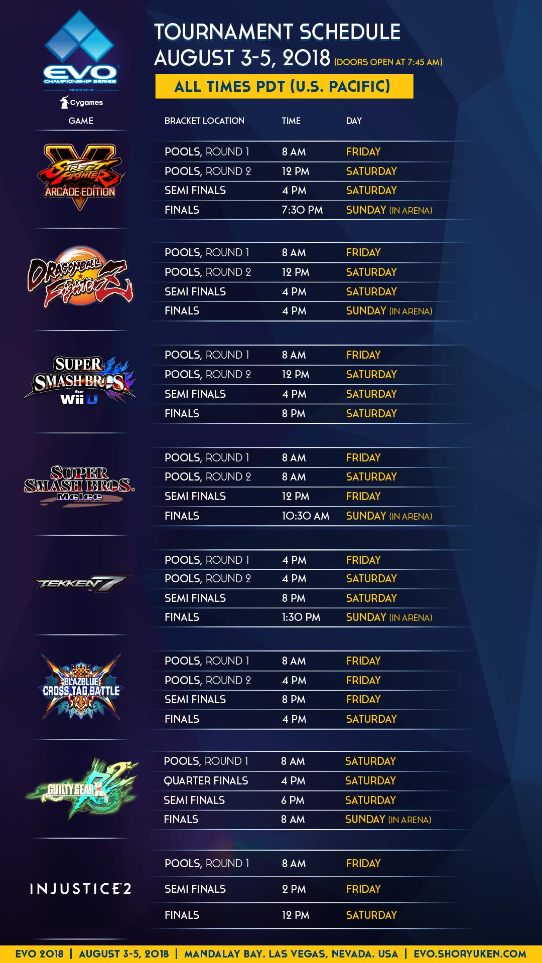 Final EVO schedule 1 out of 3 image gallery