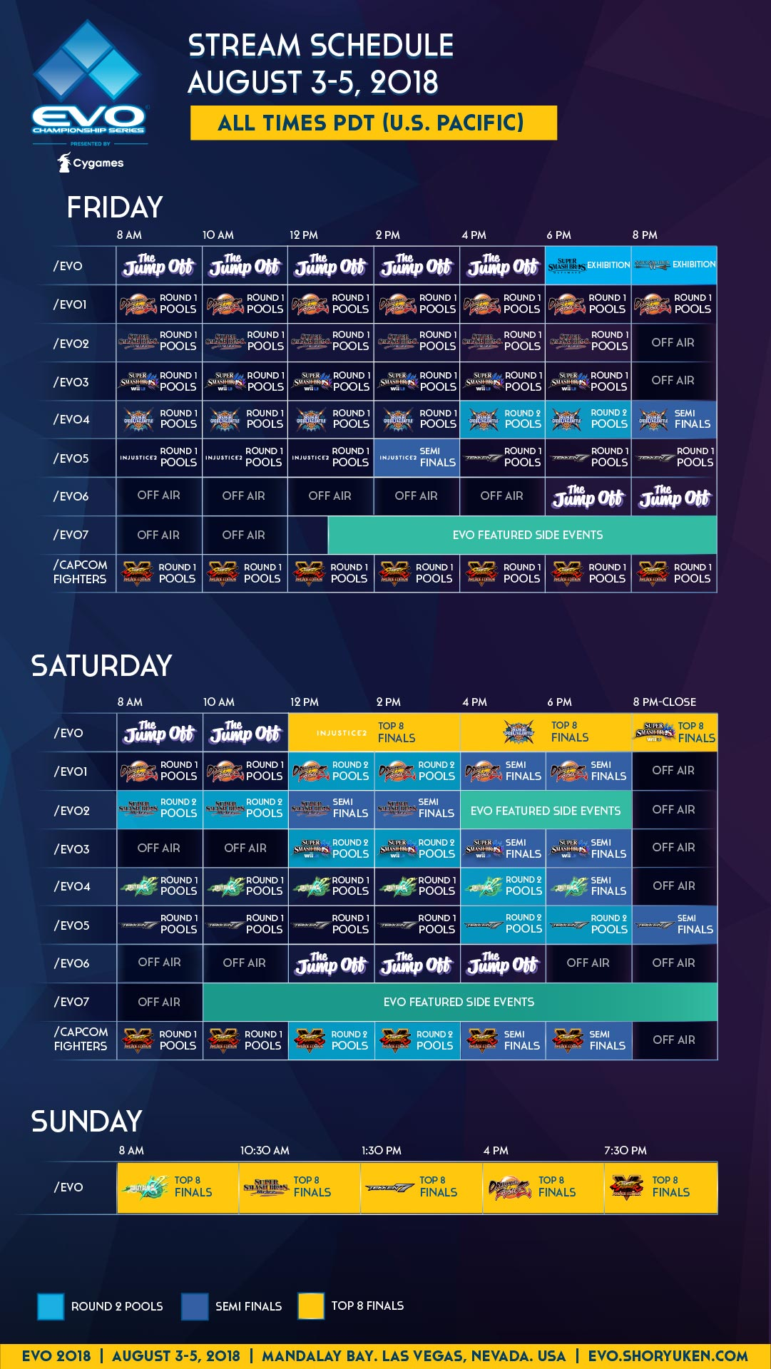 Final EVO schedule 2 out of 3 image gallery
